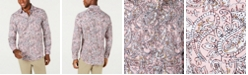 Tasso Elba Men's Stretch Anster Paisley Print Shirt, Created for Macy's