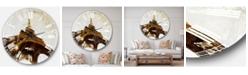 Designart Photography Oversized Round Metal Wall Clock