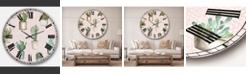 Designart Cottage Oversized Metal Wall Clock