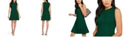 julia jordan Pleated-Hem Fit & Flare Dress