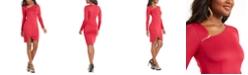 Thalia Sodi Asymmetrical Zipper-Trim Dress, Created For Macy's