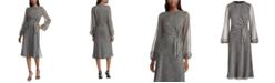 Lauren Ralph Lauren Botanical-Print Tie-Waist Georgette Dress
