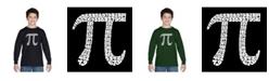 LA Pop Art Boy's Word Art Long Sleeve T-Shirt - The First 100 Digits of Pi