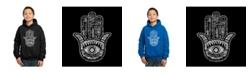 LA Pop Art Boy's Word Art Hoodies - Hamsa