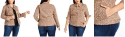 Style & Co Plus Size Printed Denim Jacket, Created for Macy's