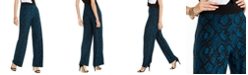 INC International Concepts INC Python-Print Wide-Leg Pants, Created for Macy's