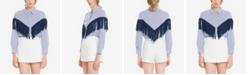 English Factory Fringe Detail Stripe Shirt