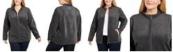 Karen Scott Plus Size Zip-Front Jacket, Created for Macy's