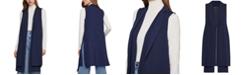 BCBGMAXAZRIA Long Open-Front Vest