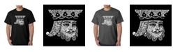 LA Pop Art Men's Word Art T-Shirt - King of Spades