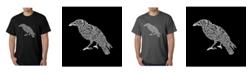 LA Pop Art Men's Word Art T-Shirt - The Raven