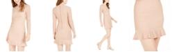 City Studios Juniors' Glitter-Stripe Knit Dress