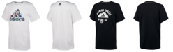adidas Little Boys Logo-Print Cotton T-Shirt