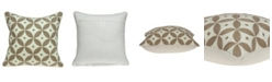 Parkland Collection Capella Transitional Beige and White Pillow Cover