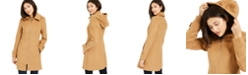 Michael Kors Petite Hooded Stand-Collar Coat, Created For Macy's