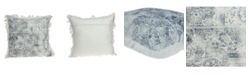 Parkland Collection Tinka Transitional Multicolor Pillow Cover With Down Insert