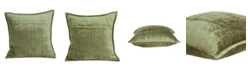 Parkland Collection Pilas Transitional Olive Solid Quilted Pillow Cover