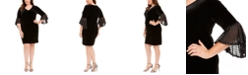 Connected Plus Size Velvet Bell-Sleeve Dress