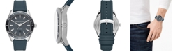 A|X Armani Exchange Men's Enzo Blue Silicone Strap Watch 46mm