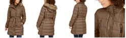 Lucky Brand Hooded Faux-Fur-Trim Puffer Coat