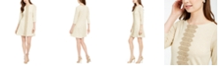 Pappagallo Metallic-Trim Shift Dress