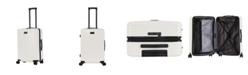 "Triforce Luggage Triforce Milan 26"" Spinner Satin Finish Leather Trim Luggage"