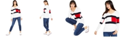 Tommy Hilfiger Cotton V-Neck Sweater & Ankle Skinny Jeans, Created for Macy's