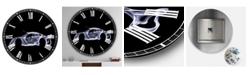"""Designart Mercedes-Benz Clk Gtr Oversized Modern Wall Clock - 23"""" x 23"""" x 1"""""""