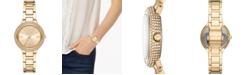 Michael Kors Women's Mini Taryn Gold-Tone Stainless Steel Bracelet Watch 33mm