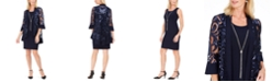 R & M Richards 2-Pc. Printed Jacket & Necklace Dress