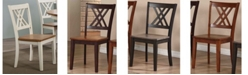 ICONIC FURNITURE Company Double X-Back Dining Chairs, Set of 2