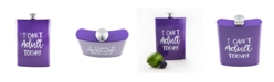 """Thirstystone 8 oz Purple """"I Can't Adult Today"""" Flask"""
