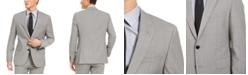 HUGO HUGO Hugo Boss Men's Slim-Fit Stretch Light Gray Sharkskin Suit Jacket