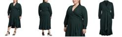 Lauren Ralph Lauren Plus Size Surplice Midi Dress