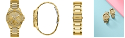 GUESS Unisex Gold-Tone Stainless Steel Bracelet Watch 40mm