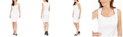 Kasper Tonal-Print Sheath Dress