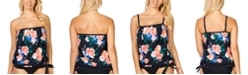 Island Escape Kauai Bloom Coral Gables Printed Blouson Tankini, Created For Macy's