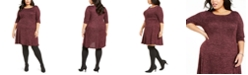 Connected Plus Size Fit & Flare Sweater Dress
