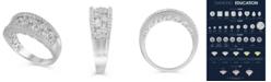Macy's Certified Diamond (1-1/2 ct. t.w.) Anniversary Band in 14K White Gold