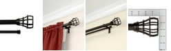 "Lumino Edison 1"" Double Drapery Rod and Hardware Set, 42"" - 120"""