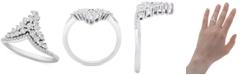 Macy's Diamond Tiara Ring (1/2 ct. t.w.) in 10k White Gold