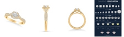 Macy's Diamond Twist Engagement Ring (7/8 ct. t.w.) in 14k Yellow, White or Rose Gold