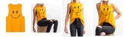 Zenzee Women's Smiley Graphic Tank Top