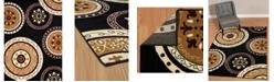 """Asbury Looms Cafe Cozy 950 11070 28 Black 1'11"""" x 7'2"""" Runner Rug"""