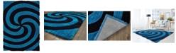 """Asbury Looms Finesse Pinnacle 2100 21760 24 Blue 1'10"""" x 3' Area Rug"""