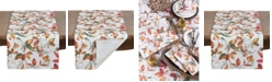 Saro Lifestyle Fall Leaves Design Runner In Soft Tones