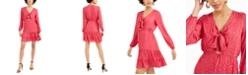 Bar III Ruffled Bow-Tie Mini Dress, Created for Macy's