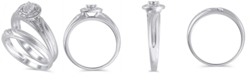 Macy's Certified Diamond (1/20 ct. t.w.) Bridal Set in 14K White Gold