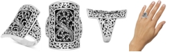 Lois Hill Carved Filigree Statement Ring in Sterling Silver