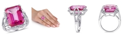 Macy's Pink Topaz (14 1/2 ct. t.w.) and Diamond (1/2 ct. t.w.) Ring in 14k White Gold